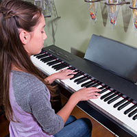 Playing a Roland digital piano