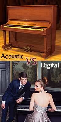 difference between acoustic and digital pianos