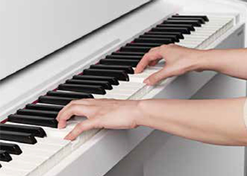 playing a digital piano
