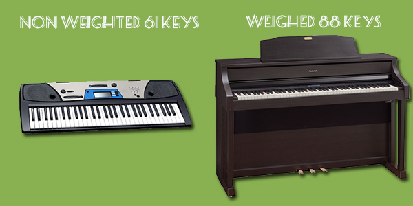 the difference between weighted and unweighted keys