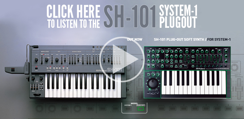 roland icon series sh-101 sh101 synth synthesizer video plugout system-1