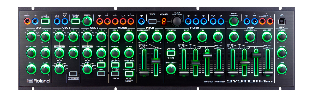roland aira modular synthesizer system-1m