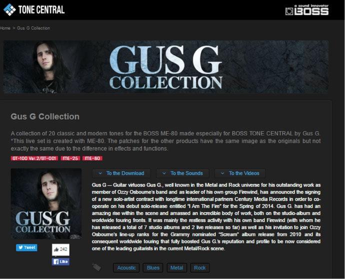 BOSS Tone Studio GUS G