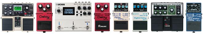 BOSS delay pedals