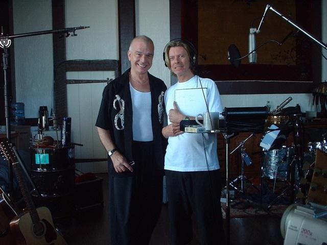 Tony Visconti with David Bowie