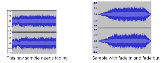 Sample with/without Fade
