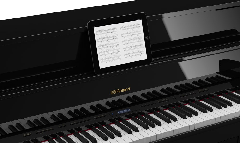 Roland pianos and digital sheet music use modern technology to enhance your learning and enjoyment.